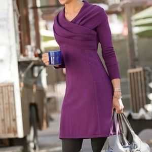 ATHLETA   Organic Cotton Wool  Sochi Sweater dress
